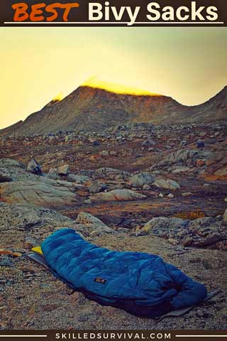 Bivy Sack On Mountain In Morning