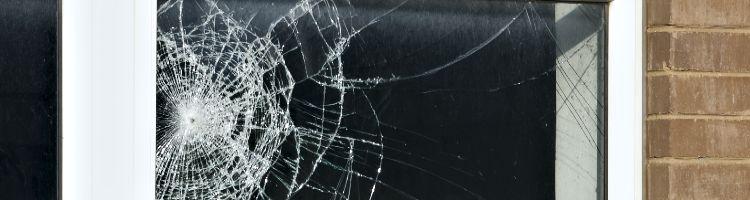 Broken Window With Security Window Film