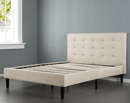 King Size Bed Frame With Upholstered Headboard Storage