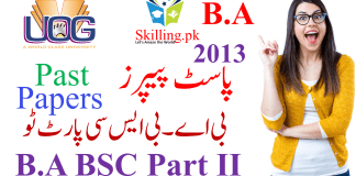 University of Gujrat Past Papers B.A BSc Part II 2013