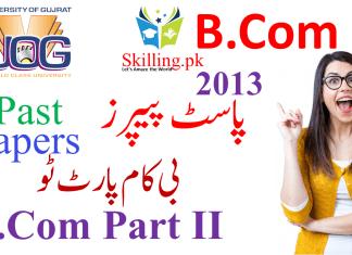 University of Gujrat Past Papers B.Com Part 2 2013