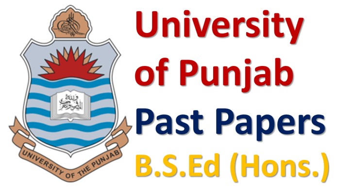 Punjab University Lahore Past Papers of B.S.Ed (Hons.) Download PDF