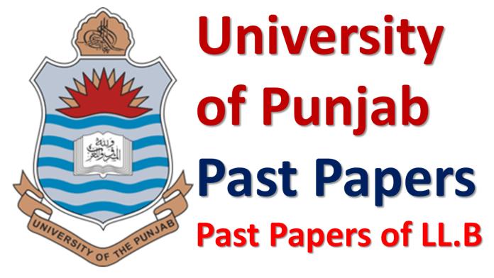 Punjab University Lahore Past Papers of LLB Download PDF