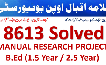 AIOU B.ED Thesis Manual Format Solved 8613 Research Project