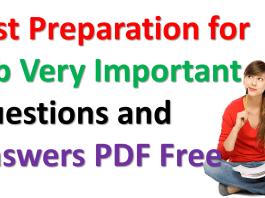 Test Preparation for Job Very Important Questions and Answers
