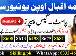 Allama Iqbal Open University AIOU Past Papers English Urdu 838