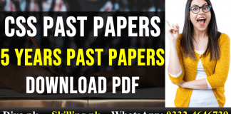 FPSC CSS Psychology Past Papers