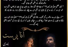 Ana Parast Novel By Yusra Complete PDF
