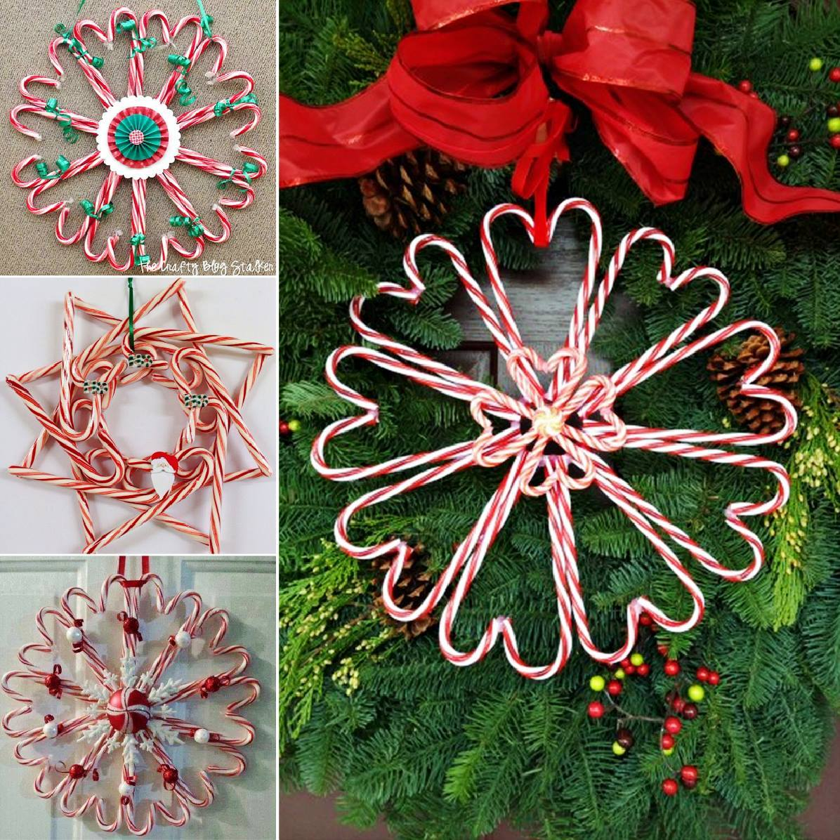 Diy Amp Crafts Wonderful Diy Christmas Candy Cane Wreath
