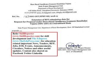 Request for Proposal under Deen Dayal Upadhyaya Grameen Kaushalya