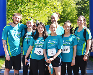 Group of 5K participants smiles for the camera