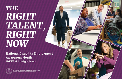 2019 NDEAM poster: The Right Talent, Right Now