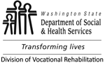 Logo: Washington State Department of Social & Health Services, Transforming Lives, Division of Vocational Rehabilitation