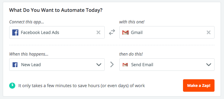 Facebook Lead Gen with Gmail