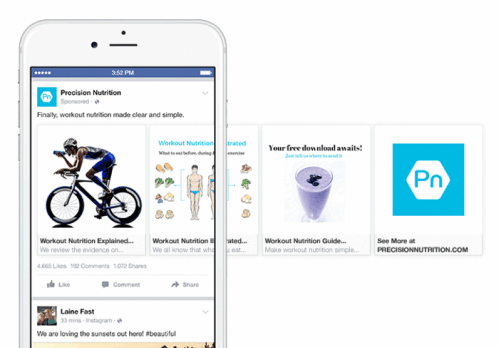 Precision-Nutrition-Facebook-Carousel-Ads