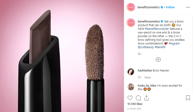 Benefit Cosmetics Instagram