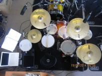 Drumles Rock drumkit docent boven