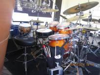 Drumles Rock drumkit docent Odery Custom back