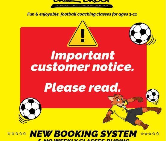 Important Customer Information; New Booking System & Class Cancelations