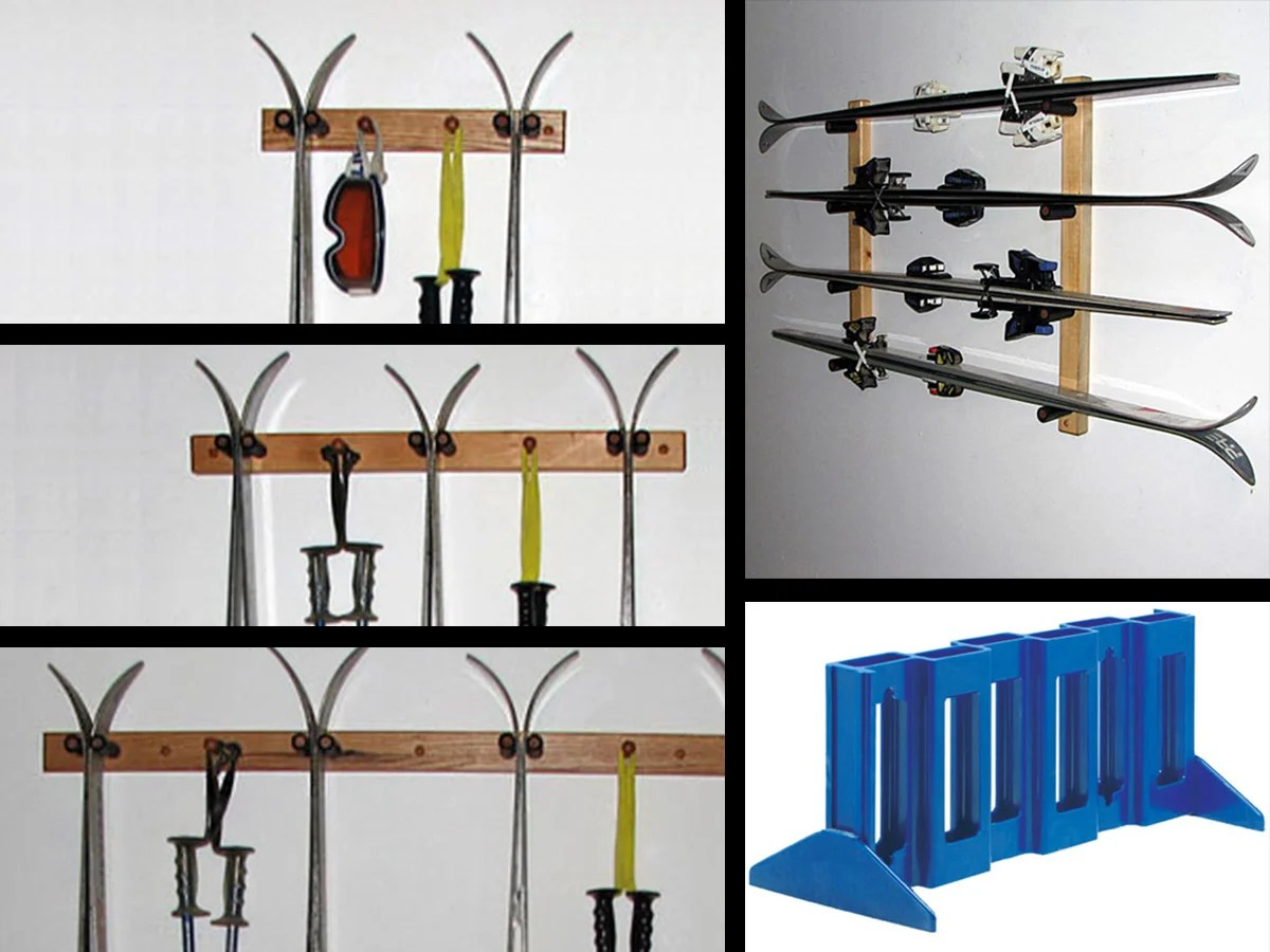 how to build a ski rack