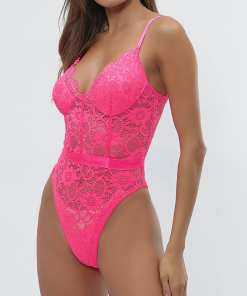 Beautiful Feminine Adjustable Straps Lace Mesh Teddy