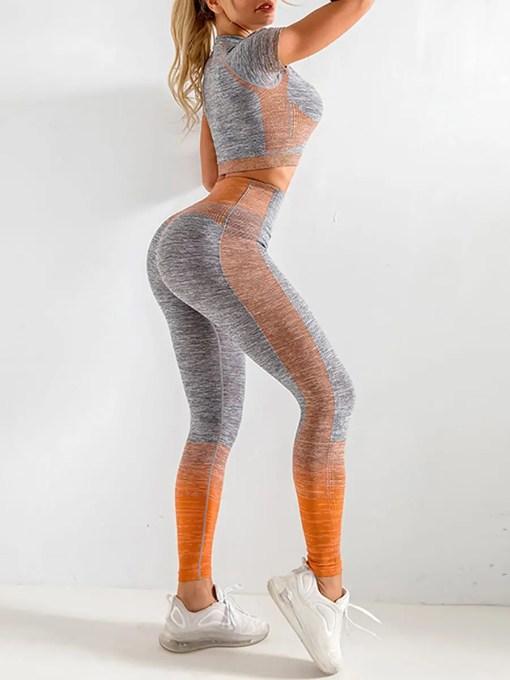 YD200058 OG2 3 Maldonado Scintillating Crop Top Seamless High Waist Pants Women's Activewear