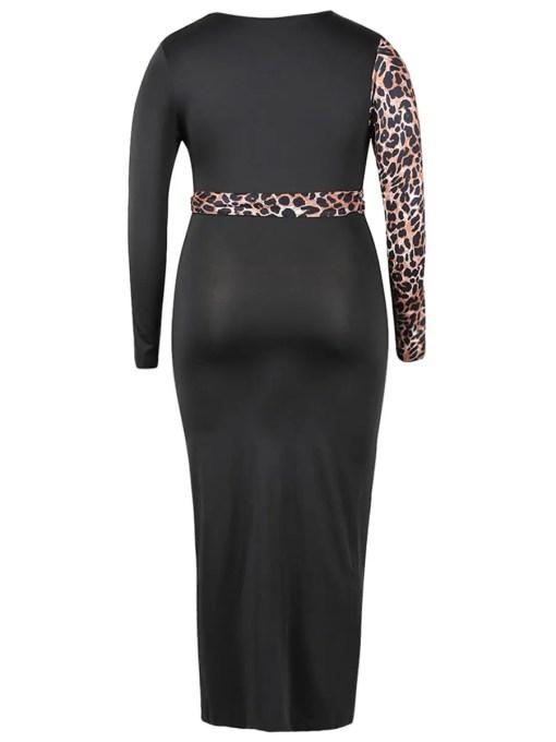 Elegant Yet Sultry Deep V Neck Plus Size Bodycon Dress