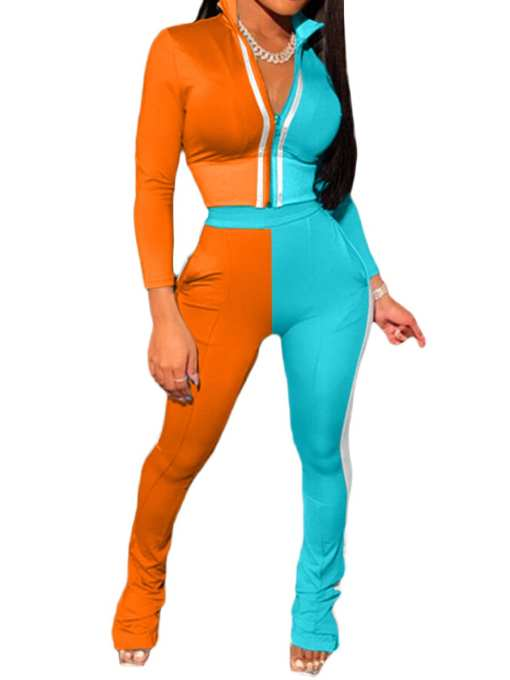 Slay Contrast Color Full Sleeve Casual Women