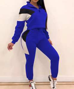 Spicy Two-Piece Sports Top And High Rise Pants Workout Clothes