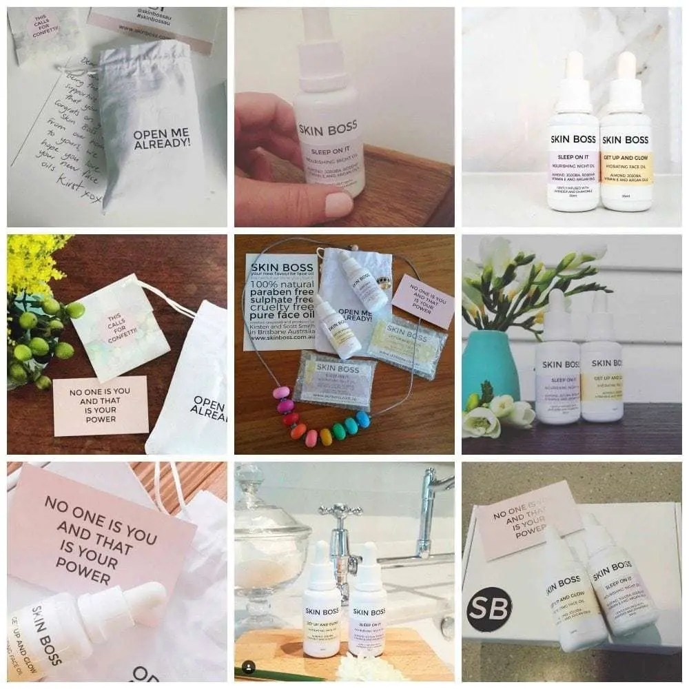 Today we're celebrating our fabulous Skin Boss customers. They know how to nail a flat lay and share our all natural face oils on Instagram like a Skin Boss! Featuring Fat Mum Slim, The Builder's Wife, Cooker and a Looker