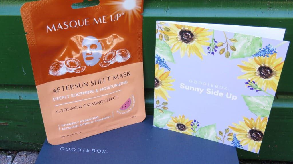 Mascque me up aftersun sheet mask in Goodiebox