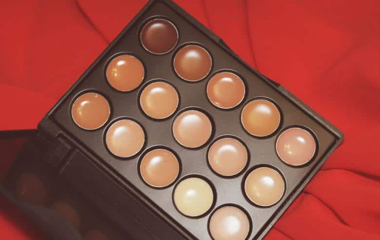 Crème concealer, concealer palette, huidskleur concealer