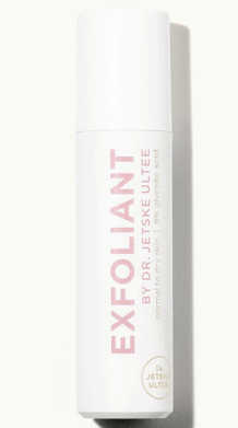 Dr. Jetske ultee AHA exfoliant voor de normale tot droge huid. 8% glycolzuur