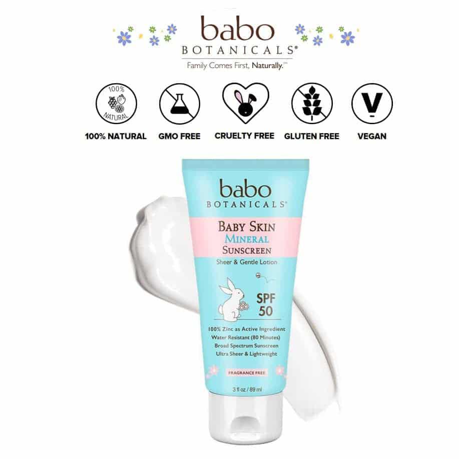 BABO BOTANICALS – BABY SKIN NATURAL MINERAL SUNSCREEN | $19.95 |