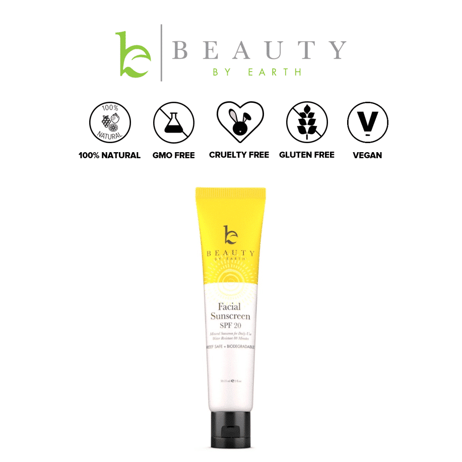 *BEAUTY BY EARTH – MINERAL FACIAL ORGANIC SUNSCREEN SPF | $18.99 |