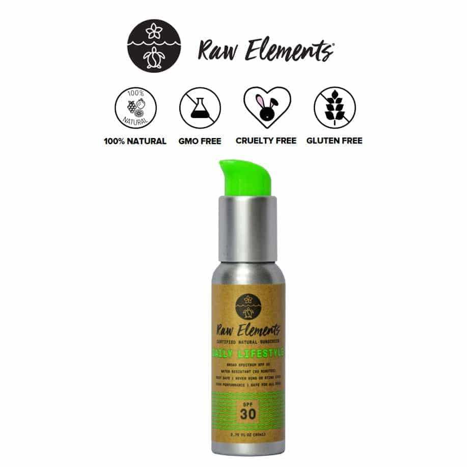 *RAW ELEMENTS – DAILY LIFESTYLE SPF 30 MINERAL SUNSCREEN | $19.99 |