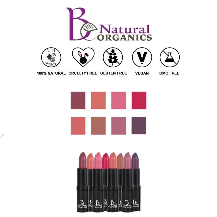 *BE NATURAL ORGANICS – ORGANIC LIPSTICK   $16  