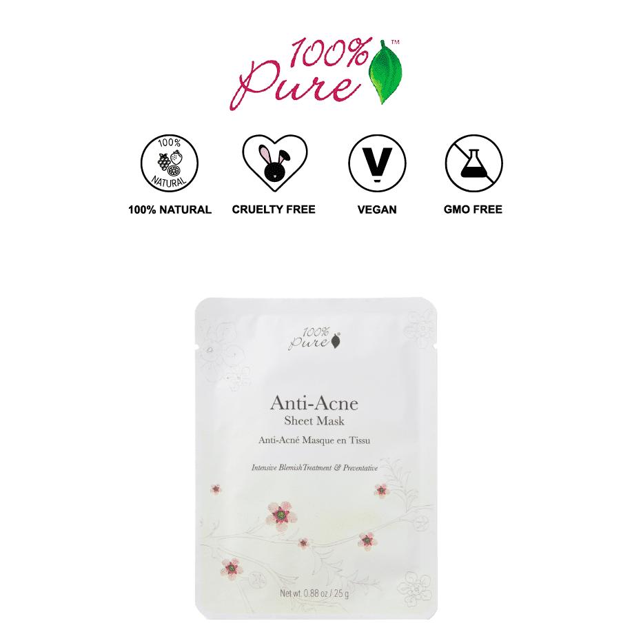 *100% PURE – ANTI-ACNE ALL NATURAL SHEET MASK | $6 |