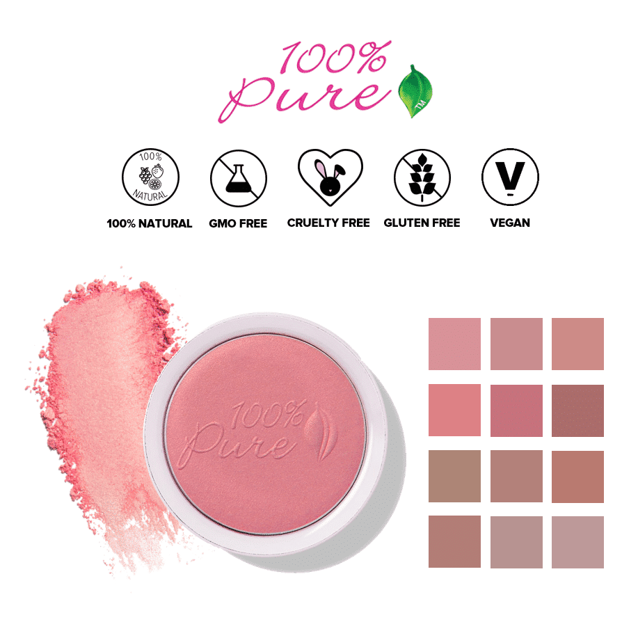 *100% PURE – FRUIT PIGMENTED ALL NATURAL BLUSH   $38  