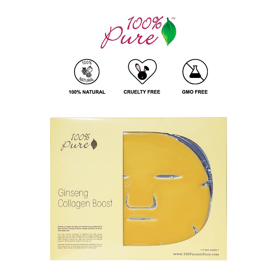 *100% PURE – GINSENG COLLAGEN BOOST ORGANIC SHEET MASK | $8 |