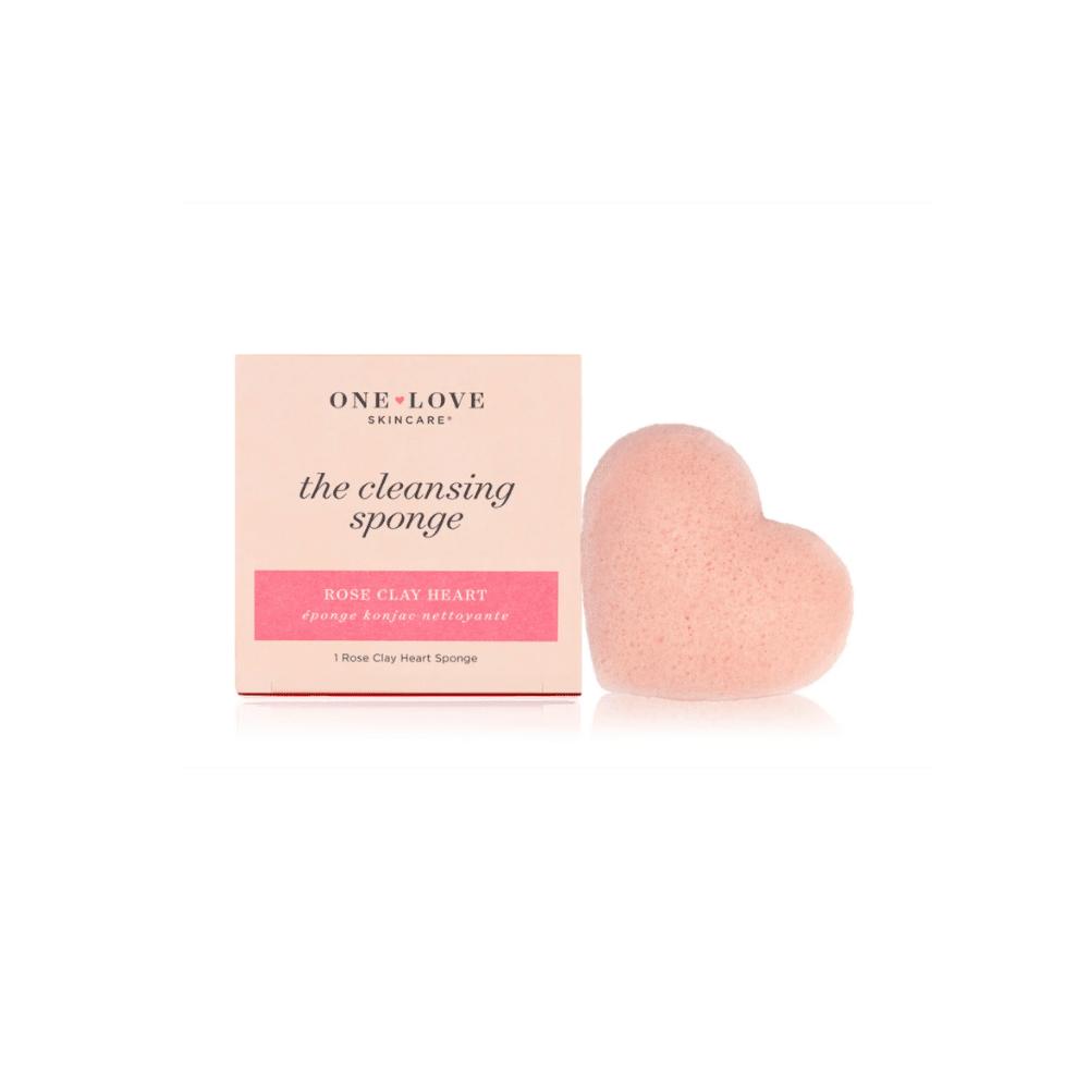 One Love Organics Rose Clay Heart Konjac Sponge   $10  