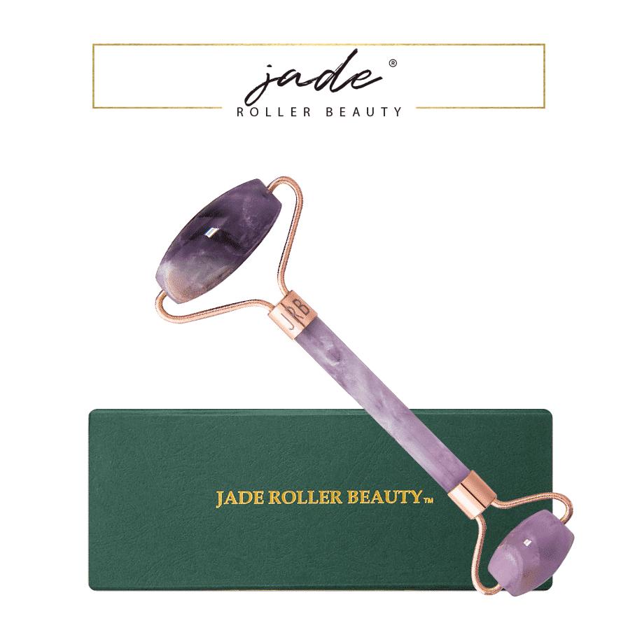 *JADE ROLLER BEAUTY – AMETHYST GEMSTONE LUXURY FACIAL ROLLER   $76  