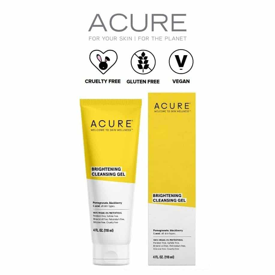 *ACURE – BRIGHTENING CLEANSING GEL FACE WASH | $7.49 |