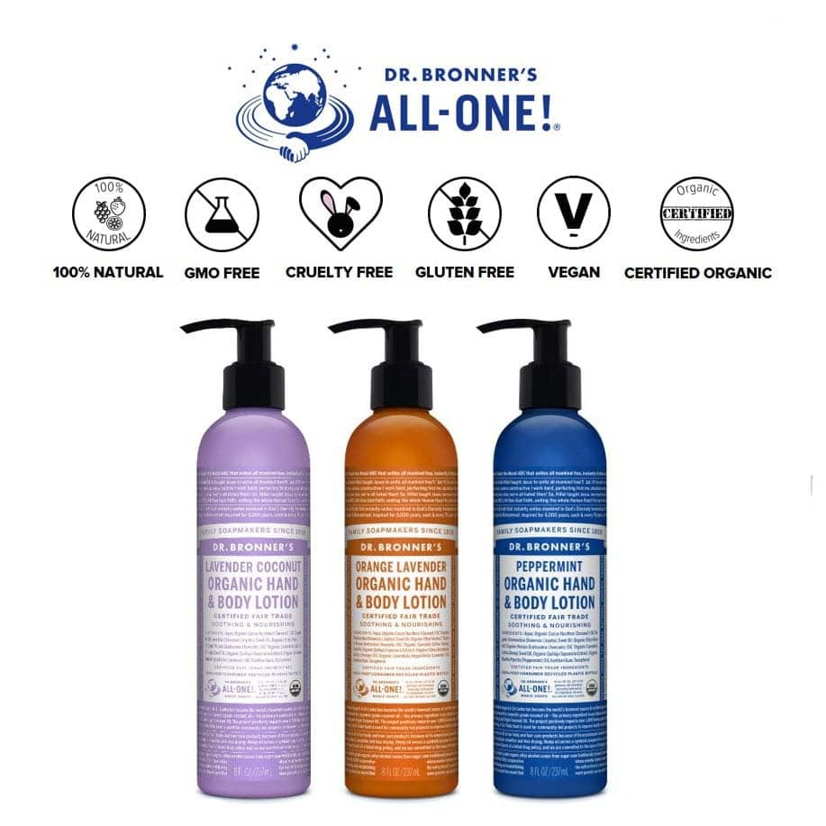 *DR. BRONNER – ORGANIC HAND AND BODY LOTION | $17.99 |