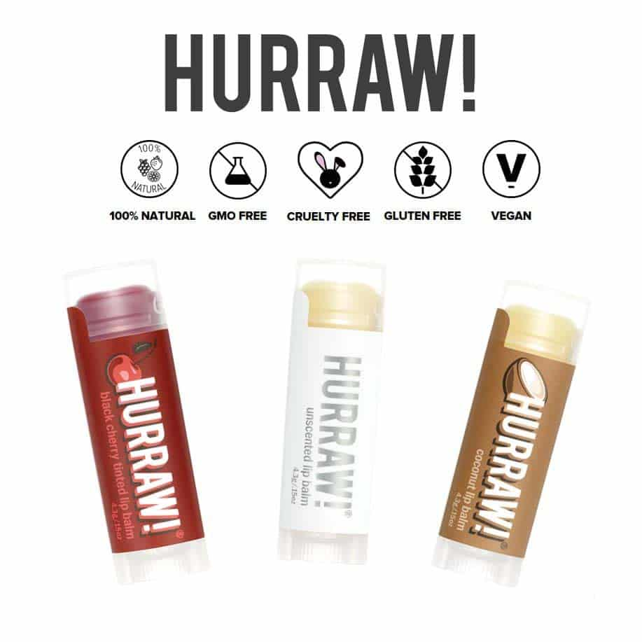 *HURRAW – FLAVORED & UNFLAVORED ORGANIC LIP BALMS   $22  