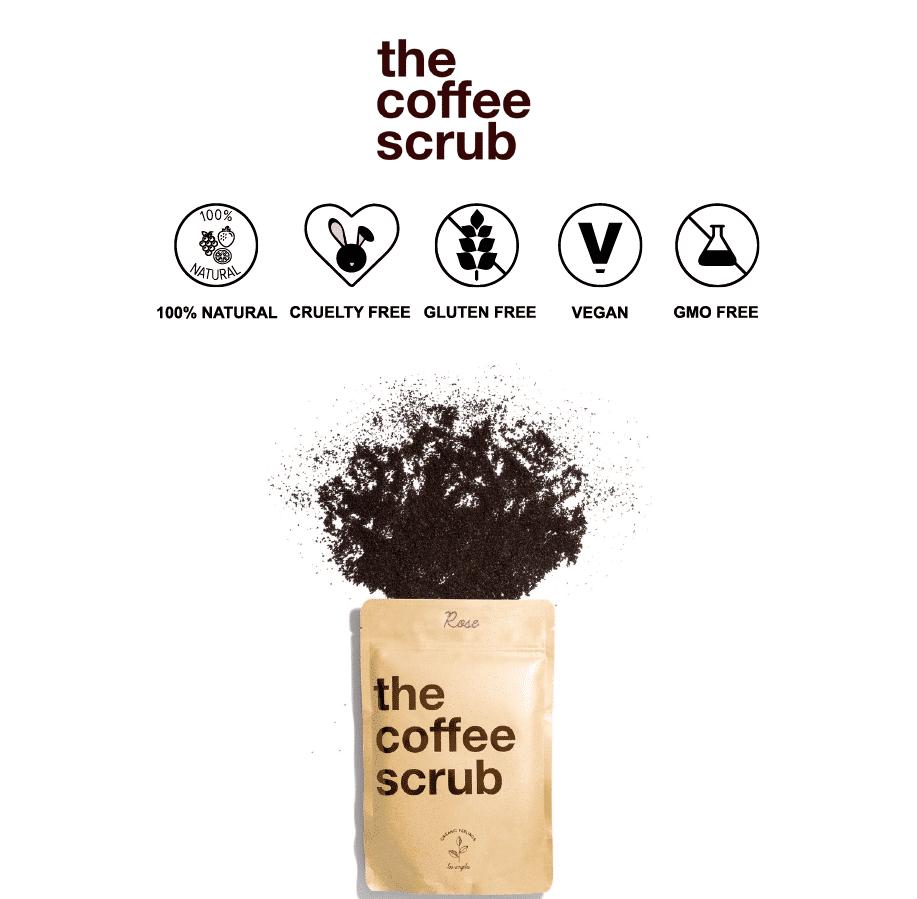 *THE COFFEE SCRUB – ORGANIC COFFEE & ROSE BODY SCRUB | $22 |