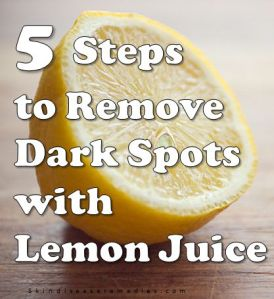 lemon jucie for dark spots