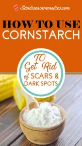 cornstarch for skin whitening