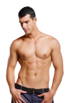Man hair free chest with IPL hair removal
