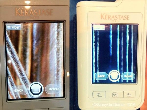 Before and after - Kérastase's Fusio-Dose, the strands are more smoother and intact!